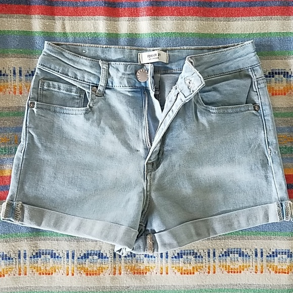 Forever 21 Pants - Forever 21 High Waisted Cuffed Shorts